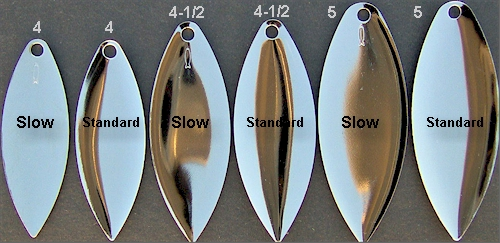4 1//2 White Colorado Spinnerbait #4 1//2 Blades Lot of 4 Worth Mfg No
