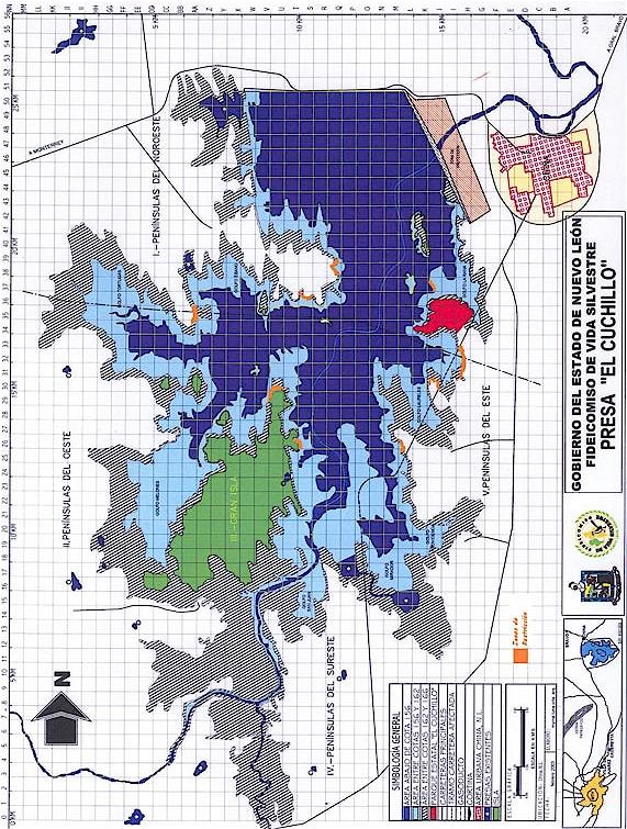 La Presa El Cuchillo Map